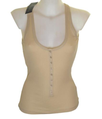 Bnwt Women/'s French Connection Strappy Tank Top Vest Ribbed Stretch Material