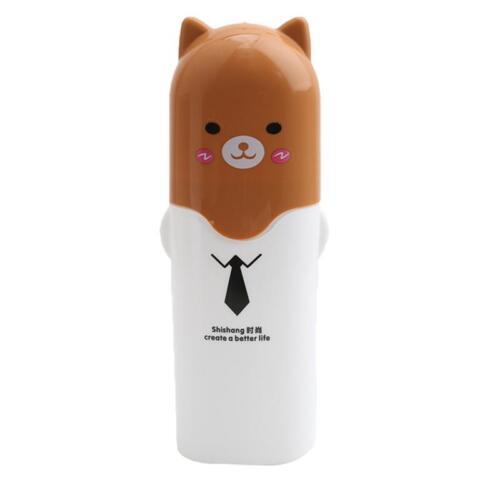 Portable Cartoon Animal Toothbrush Holder Travel Case Clean Box Tube FM