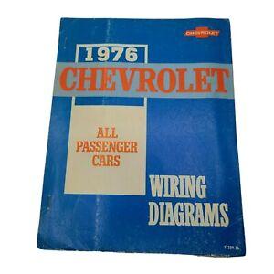 1976 Chevrolet Wiring Diagram Manual Camaro Monza Nova ...
