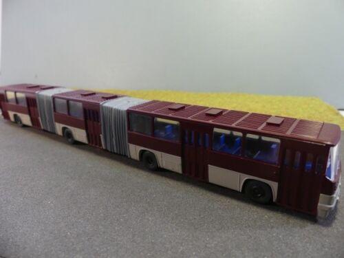 1//87 SES Ikarus 293 Doppel-Gelenkbus weinrot//grau 14130701