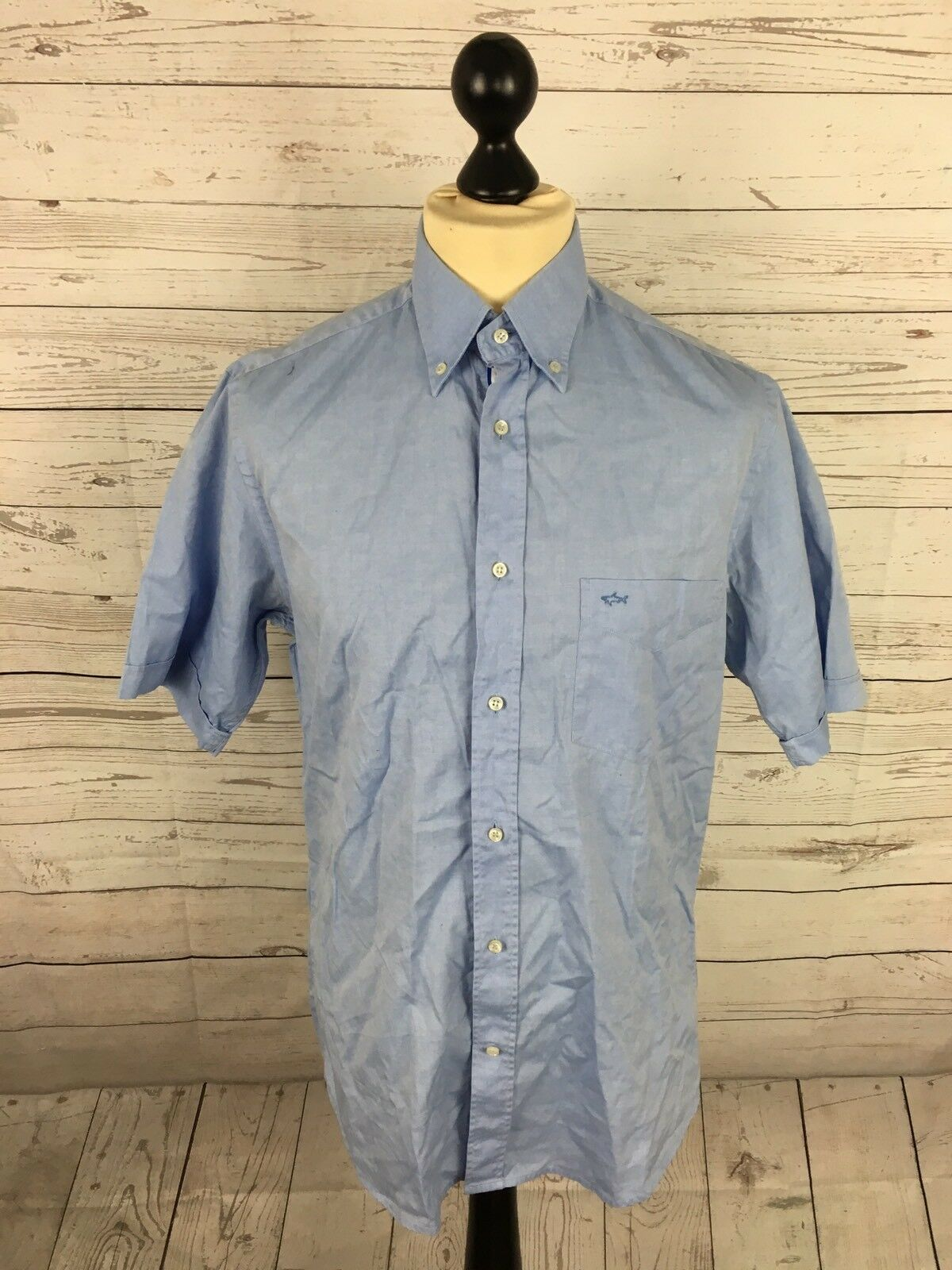 PAUL & SHARK Shirt - Size Medium - Short Sleeved - bluee - Great Condition