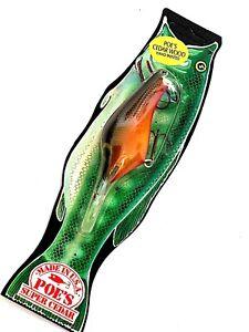 Vintage 1987 POE/'S SUPER CEDAR Chartreuse Blue Fishing Lure #948