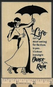 STAMPENDOUS Cling Rain Dance Rubber Stamp