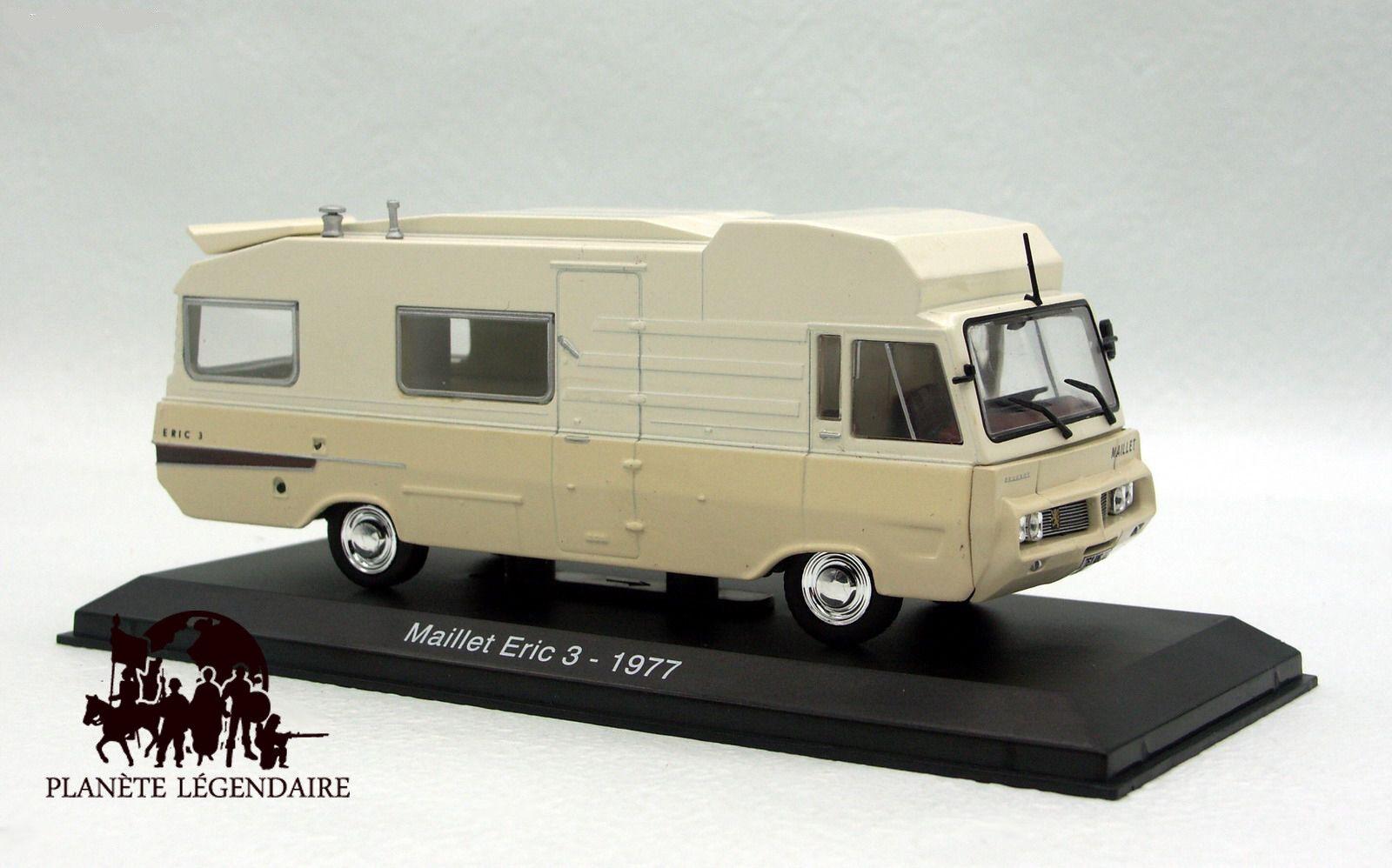 Miniature IXO CAMPING CAR 1 43e Le Maillet Eric 3 sur PEUGEOT J7 1976 NEUF