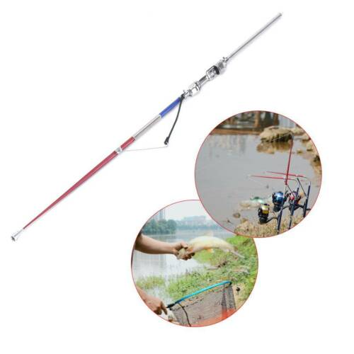 Fishing Rod Automatic Pole 63cm Stainless Steel Sea Lake River Sensitive Tackle