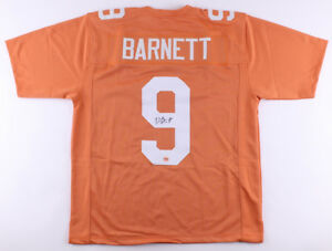 official photos a3271 b1e86 Details about Derek Barnett SIGNED #9 Tennessee Vols size XL custom jersey  w/Fiterman hologram