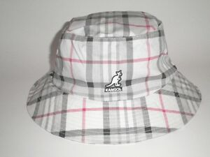 2a5e66ce2ca NEW Kangol RIO HONDO BUCKET Hat White Plaid S M ( 43) Cap Flexfit ...
