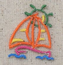 Mini Colorful Summer Kite w// Red String Iron On Embroidered Applique Patch
