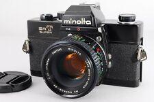 【Exc++++】 Minolta SRT SUPER Black 35mm SLR + MC 50mm F1.7 From Japan #1474