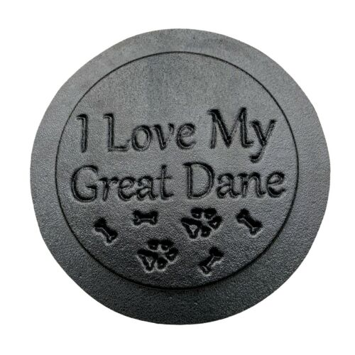 """Great Dane dog mold garden ornament stepping stone 7.75/"""" x 3//4/"""" thick"""