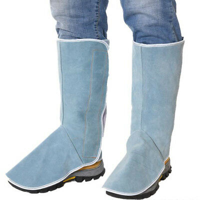 Leather Welding Spats Shoe Protector Boots Cover Flame Retardant f//Gardening