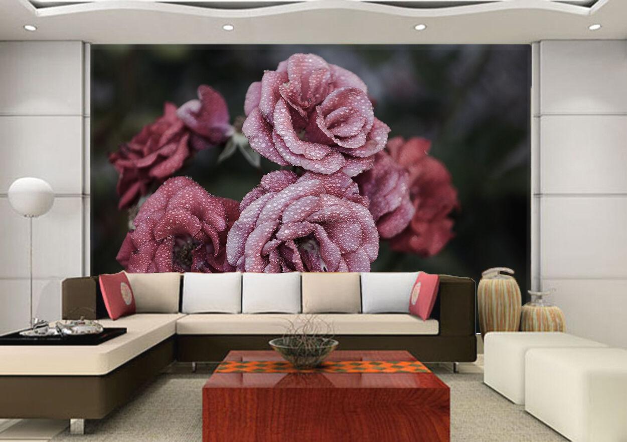 3D Rosa mit Tau 62 Fototapeten Wandbild Wandbild Wandbild Fototapete Bild Tapete Familie Kinder | Billiger als der Preis  | Sale Outlet  | Haltbarer Service  7d2b2b