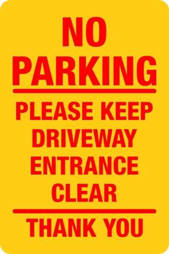 No Parking Please Keep Driveway Entrance Clear Rigid Plastic Board 20 x 30cm
