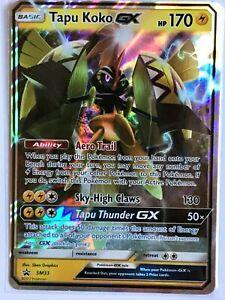 Tapu-Koko-GX-ULTRA-RARE-SM33-Guardian-Rising-Card-Pokemon-TCG-NM-Holo