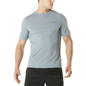 Tesla MTS04 HyperDri Short Sleeve Athletic T-Shirt - Heather Light Gray
