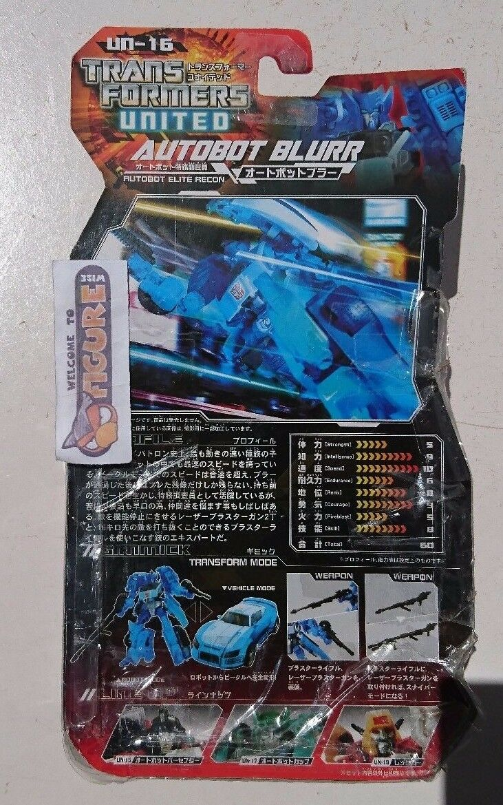 Takara TransFormers UNITED Series Series Series UN-16 Autobot blueRR action figure, New cebe00