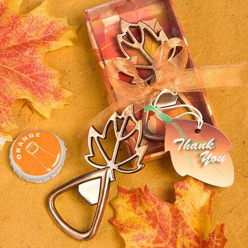 60 Autumn Leaf Design Bottle Openers Fall Wedding Favor Bridal Shower Favors