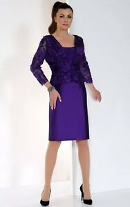 Image Is Loading Irresistible Veromia Mother Of Bride Groom Purple Beaded