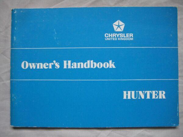 1975 Chrysler Hunter Proprietario's Handbook Pub, Nº 71273995