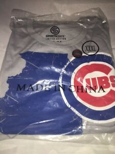 Limited-Edition-Sports-Crate-Chicago-Cubs-State-Of-IL-Grey-3XL-Tee-Shirt