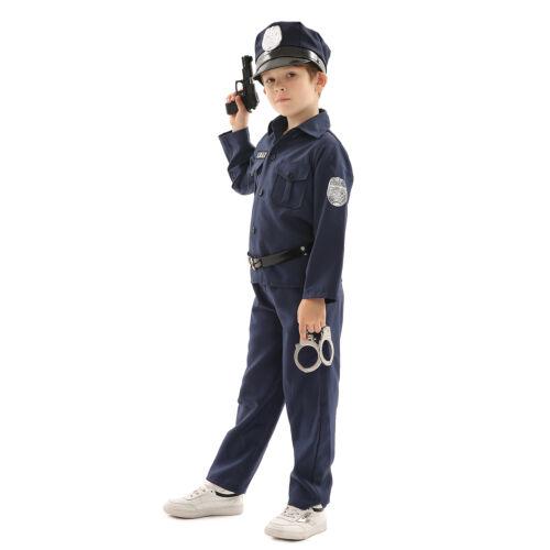 Boys Child Halloween Costume Police Clown Joker Soldier Pirate Fancy Dress Party