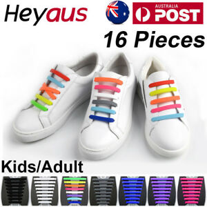 Easy-Lazy-No-Tie-Elastic-Silicone-Shoe-Laces-Cool-Guy-Shoelaces-Child-Adult-OZ