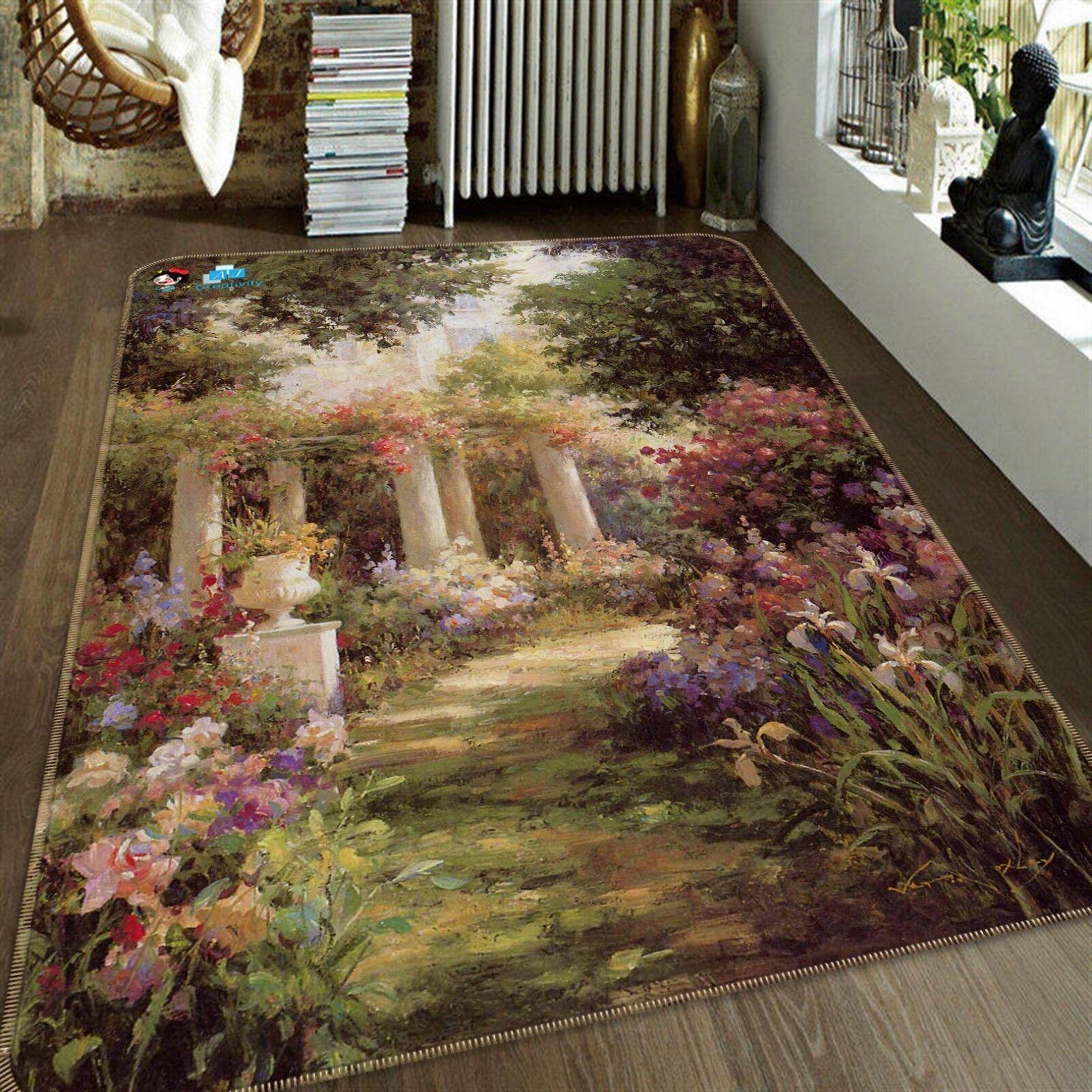 3D Garden Paintings 62 Non Slip Rug Mat Room Mat Quality Elegant Photo Carpet US