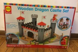 Details About New Sealed Alex Wooden Dragon Castle Working Drawbridge 55 Pieces For Ages 4