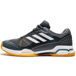 new product 164c0 63a78 adidas Barricade Club Silver Yellow White Men Tennis Shoes Sneakers BY1638