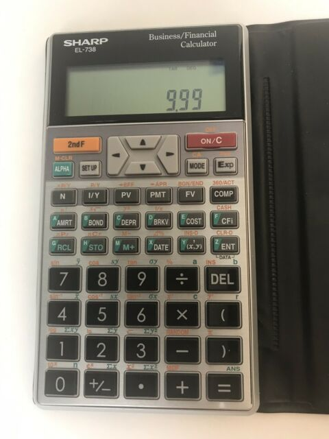 Sharp EL-738 Business Financial Calculator TESTED AND WORKING! Great Shape!