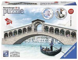 RAVENSBURGER-3D-PUZZLE-216-PEZZI-PONTE-DI-RIALTO-VENEZIA-ART-12518