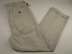 Mens-Brooks-Brothers-Country-Club-36x30-Beige-Pleated-Chinos-Khakis-Pants