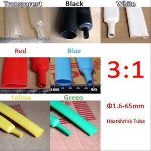 Φ4mm Adhesive Lined4:1 Transparent Waterproof Heat Shrink Tubing 5M Tube Sleeve