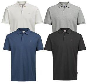 2afc9530bbfd72 Jack   Jones New Mens Cotton Polo Shirt Short Sleeve Casual Pique T ...