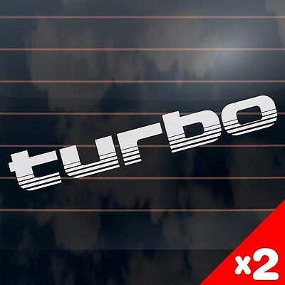 TURBO toyota landcruiser 100 series style Car Sticker 275mm (2 Stickers)