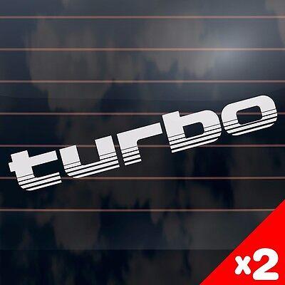 TURBO toyota landcruiser 100 series style Car Sticker 275mm (2 Stickers)