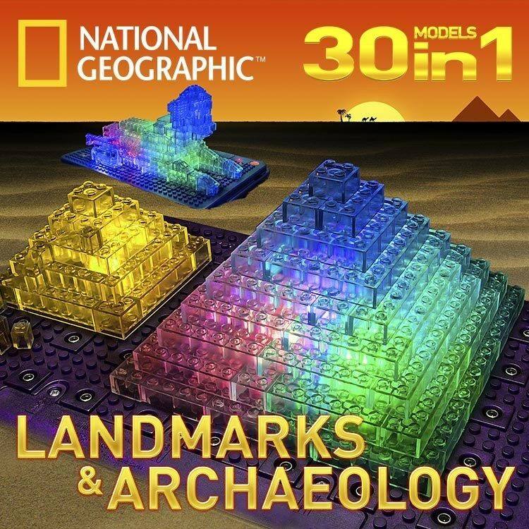 Landmarks & Archaeology National Geographic Laser Pegs Light up Construction Construction Construction Toy 760fc5