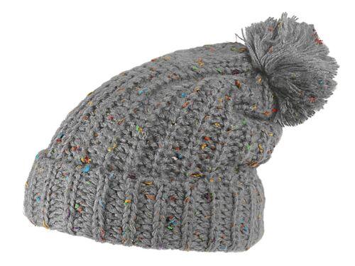 Warme Bommel-Mütze Pudel-Mütze Winter-Mütze Strick-Mütze Damen Herren Unisex