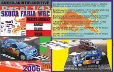 ANEXO DECAL 1/43 SKODA FABIA WRC ANDREAS AIGNER R.TURKEY 2006 10th (05)