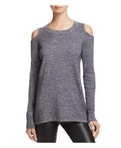 Aqua-Cashmere-Women-039-s-Black-White-Twist-Circle-Arm-Cutout-Cashmere-Sweater-188