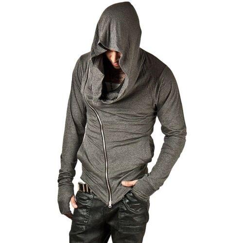 Sweats à capuche hommes fermeture éclair fashion hip hop Creed street wear baissez Col Sweat