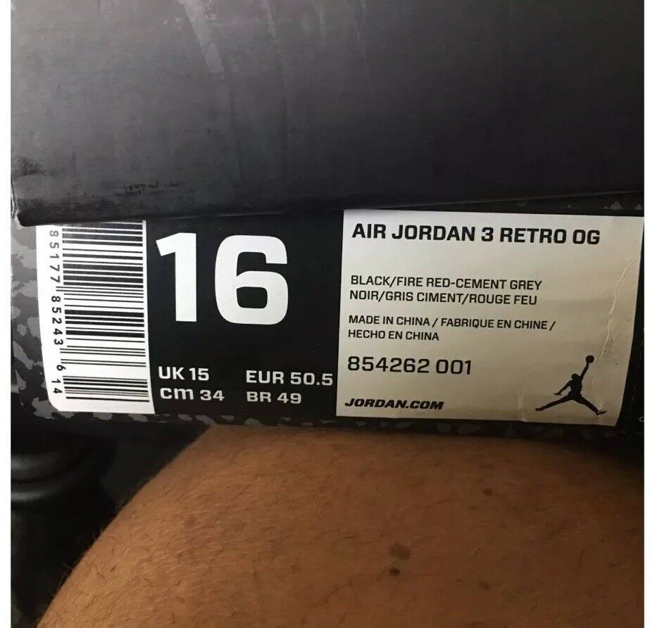 2018 Nike Air Jordan 3 III Retro OG Black Cement Comfortable Cheap and beautiful fashion
