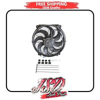 14 Inch Universal Slim Fan Radiator Cooling Push Pull And Mounting Kit 6390