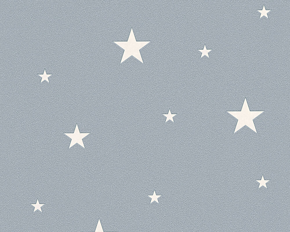 vliestapete leuchtende sterne grau blau 32440 3 sternchen. Black Bedroom Furniture Sets. Home Design Ideas