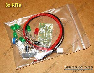 3x Kit Ka2284 Diy Led Light Audio Level Indicator Vu Meter Full