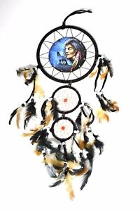 Eagle Feather Dream Catcher INDIAN WOLF EAGLE FEATHER Dream Catcher Handmade Traditional 31
