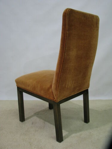 Set of 4 Vintage MasterCraft Bronze On Brass Finish Dining Chairs; High End