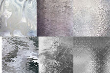 (6) 4 x 6 Clear Glass Texture Variety Pack Stained Glass Sheets Supplies