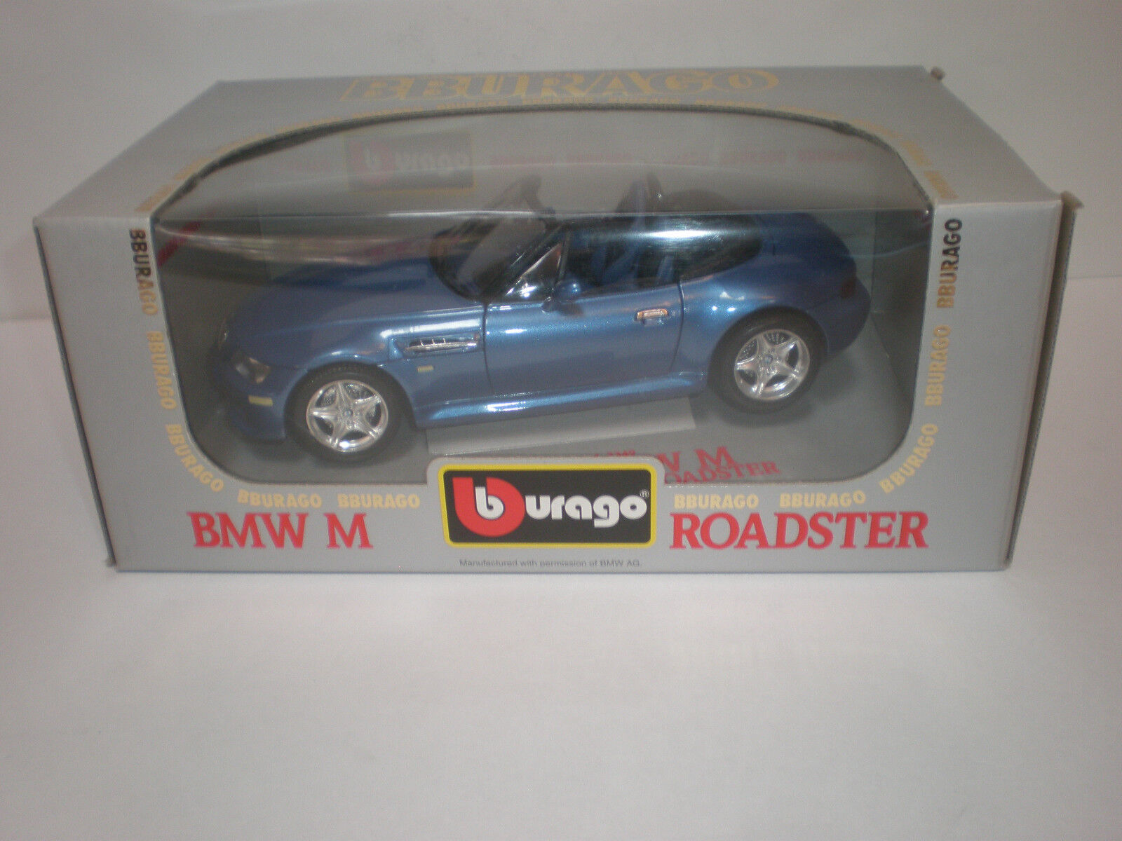 1 1 1 18 1996 BMW M Roadster bluee   Burago be2166