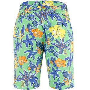 RLX-RALPH-LAUREN-Floral-PINEAPPLE-Greens-PORT-ROYAL-Golf-Shorts-32-Free-Ship